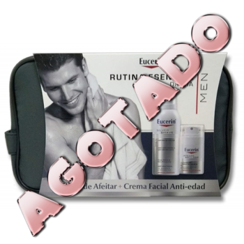 Eucerin Cofre Men Antiedad Crema Facial, 50ml + Espuma de Afeitar, 150ml.