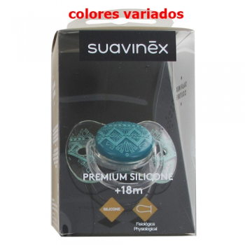 Suavinex Chupete Couture Silicona, +18m, Colores Surtidos.