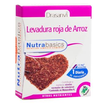 Nutrabasics Levadura Roja de Arroz, 30capsulas.