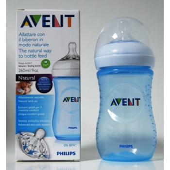 AVENT PHILIPS biberon natural 260 ml AZUL SCF695/17