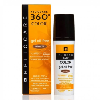 Heliocare 360º Spf50+, 50 ml, Protector Solar Gel Oil-Free Color Bronze Intense.