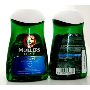 Moller s Forte  Omega-3; 60capsulas de 1gr.- PACK 2UN.