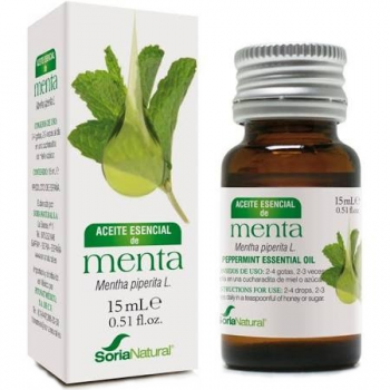 Soria Natural Aceite Esencial de Menta, 15ml.