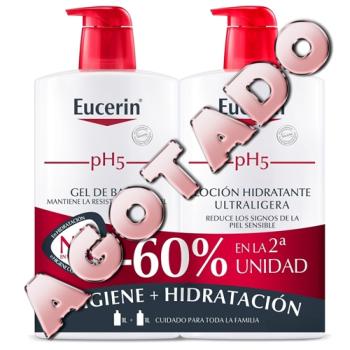 Eucerin Duplo - Loción Hidratante Ultraligera 1litro + Gel De Baño 1litro.