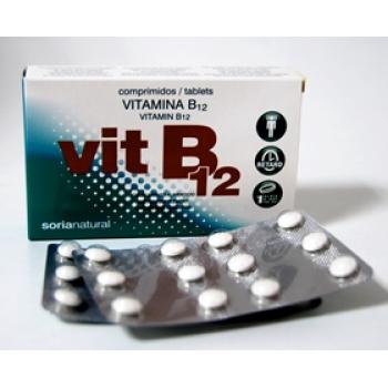 Soria Natural Vitamina B12, 48comprimidos.